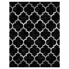 Tile1 Black Marble & Gray Metal 2 Drawstring Bag (large)