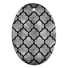 Tile1 Black Marble & Gray Metal 2 (r) Ornament (oval)