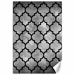 Tile1 Black Marble & Gray Metal 2 (r) Canvas 20  X 30