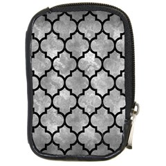 Tile1 Black Marble & Gray Metal 2 (r) Compact Camera Cases