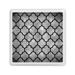 Tile1 Black Marble & Gray Metal 2 (r) Memory Card Reader (square)
