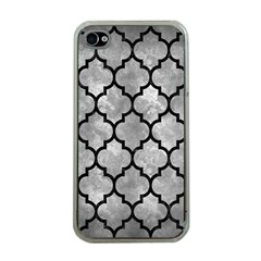 Tile1 Black Marble & Gray Metal 2 (r) Apple Iphone 4 Case (clear)