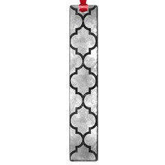 Tile1 Black Marble & Gray Metal 2 (r) Large Book Marks