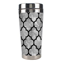 Tile1 Black Marble & Gray Metal 2 (r) Stainless Steel Travel Tumblers
