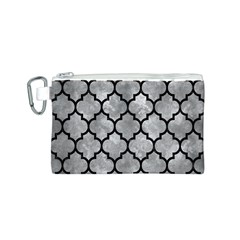 Tile1 Black Marble & Gray Metal 2 (r) Canvas Cosmetic Bag (s)