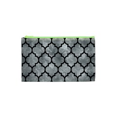 Tile1 Black Marble & Gray Metal 2 (r) Cosmetic Bag (xs)