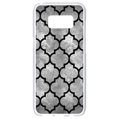 Tile1 Black Marble & Gray Metal 2 (r) Samsung Galaxy S8 White Seamless Case