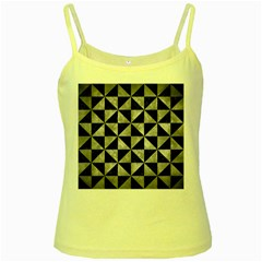 Triangle1 Black Marble & Gray Metal 2 Yellow Spaghetti Tank