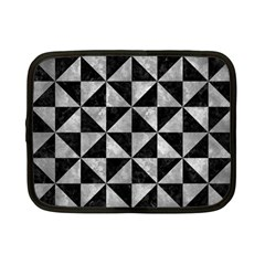 Triangle1 Black Marble & Gray Metal 2 Netbook Case (small)
