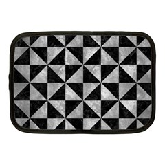 Triangle1 Black Marble & Gray Metal 2 Netbook Case (medium)