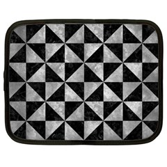 Triangle1 Black Marble & Gray Metal 2 Netbook Case (xxl)