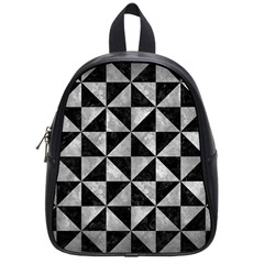 Triangle1 Black Marble & Gray Metal 2 School Bag (small)