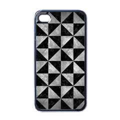 Triangle1 Black Marble & Gray Metal 2 Apple Iphone 4 Case (black)