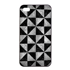 Triangle1 Black Marble & Gray Metal 2 Apple Iphone 4/4s Seamless Case (black)