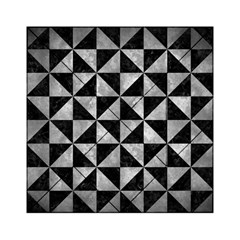 Triangle1 Black Marble & Gray Metal 2 Acrylic Tangram Puzzle (6  X 6 )
