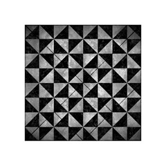 Triangle1 Black Marble & Gray Metal 2 Acrylic Tangram Puzzle (4  X 4 )