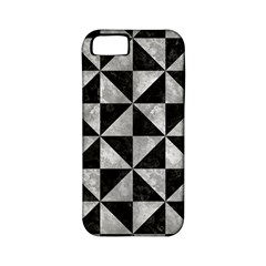 Triangle1 Black Marble & Gray Metal 2 Apple Iphone 5 Classic Hardshell Case (pc+silicone)
