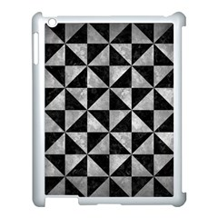 Triangle1 Black Marble & Gray Metal 2 Apple Ipad 3/4 Case (white)