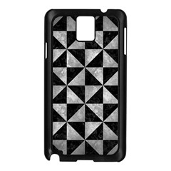Triangle1 Black Marble & Gray Metal 2 Samsung Galaxy Note 3 N9005 Case (black)