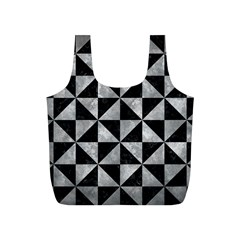 Triangle1 Black Marble & Gray Metal 2 Full Print Recycle Bags (s)