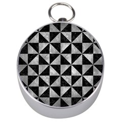 Triangle1 Black Marble & Gray Metal 2 Silver Compasses
