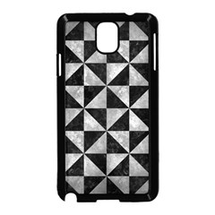Triangle1 Black Marble & Gray Metal 2 Samsung Galaxy Note 3 Neo Hardshell Case (black)