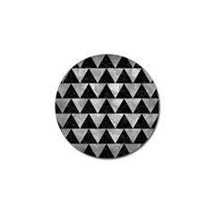 Triangle2 Black Marble & Gray Metal 2 Golf Ball Marker