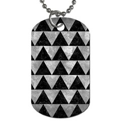 Triangle2 Black Marble & Gray Metal 2 Dog Tag (two Sides)