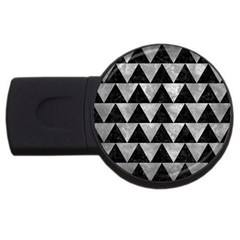 Triangle2 Black Marble & Gray Metal 2 Usb Flash Drive Round (2 Gb)