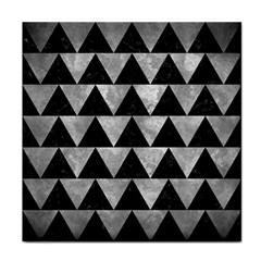 Triangle2 Black Marble & Gray Metal 2 Face Towel