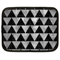 Triangle2 Black Marble & Gray Metal 2 Netbook Case (xl)