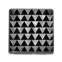 Triangle2 Black Marble & Gray Metal 2 Memory Card Reader (square)