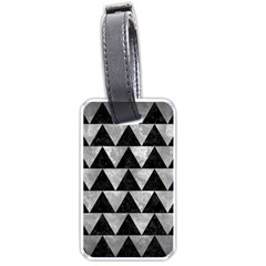 Triangle2 Black Marble & Gray Metal 2 Luggage Tags (two Sides)