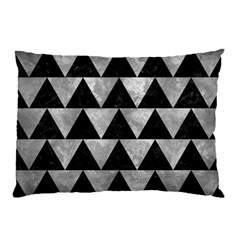 Triangle2 Black Marble & Gray Metal 2 Pillow Case (two Sides)