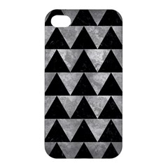 Triangle2 Black Marble & Gray Metal 2 Apple Iphone 4/4s Hardshell Case