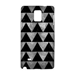 Triangle2 Black Marble & Gray Metal 2 Samsung Galaxy Note 4 Hardshell Case