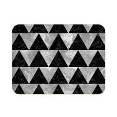 Triangle2 Black Marble & Gray Metal 2 Double Sided Flano Blanket (mini)