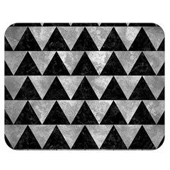 Triangle2 Black Marble & Gray Metal 2 Double Sided Flano Blanket (medium)