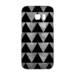 Triangle2 Black Marble & Gray Metal 2 Galaxy S6 Edge