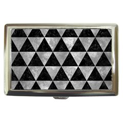 Triangle3 Black Marble & Gray Metal 2 Cigarette Money Cases