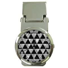 Triangle3 Black Marble & Gray Metal 2 Money Clip Watches