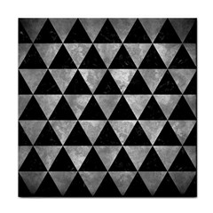 Triangle3 Black Marble & Gray Metal 2 Face Towel