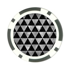 Triangle3 Black Marble & Gray Metal 2 Poker Chip Card Guard (10 Pack)