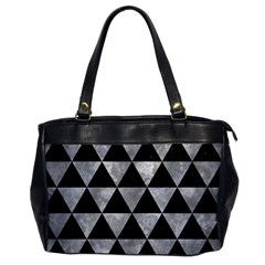 Triangle3 Black Marble & Gray Metal 2 Office Handbags