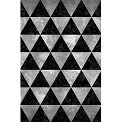 Triangle3 Black Marble & Gray Metal 2 5 5  X 8 5  Notebooks