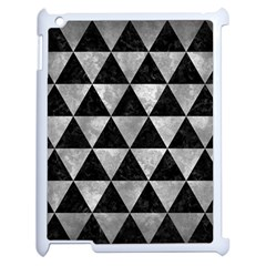 Triangle3 Black Marble & Gray Metal 2 Apple Ipad 2 Case (white)