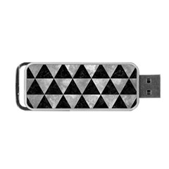 Triangle3 Black Marble & Gray Metal 2 Portable Usb Flash (two Sides)