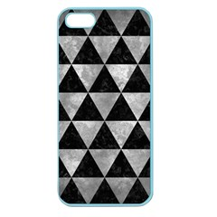 Triangle3 Black Marble & Gray Metal 2 Apple Seamless Iphone 5 Case (color)