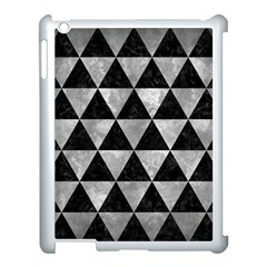 Triangle3 Black Marble & Gray Metal 2 Apple Ipad 3/4 Case (white)