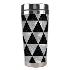 Triangle3 Black Marble & Gray Metal 2 Stainless Steel Travel Tumblers